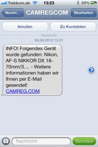 Schritt 3 - Umgehende Benachrichtigung per SMS