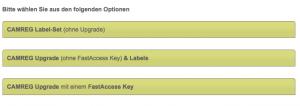 Alle User des FREE Tarifs können über die Option CAMREG Labels (ohne Upgrade) nun Labels bestellen